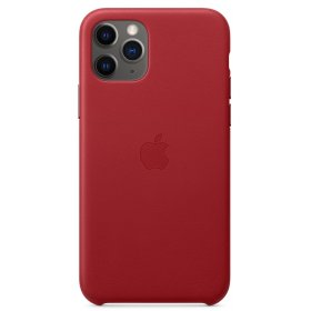 Чехол Leather Case для iPhone 11 Pro Max, Red